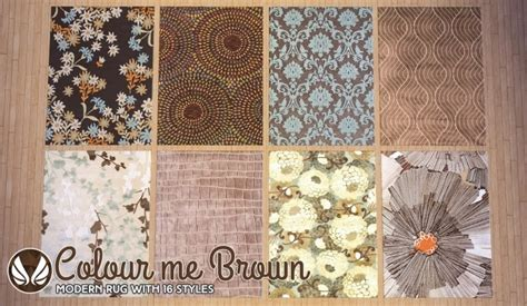 colour  brown modern rugs  simsational designs sims