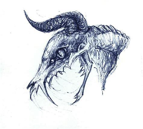 demonic animals drawings