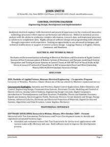 systems engineer resume sle template