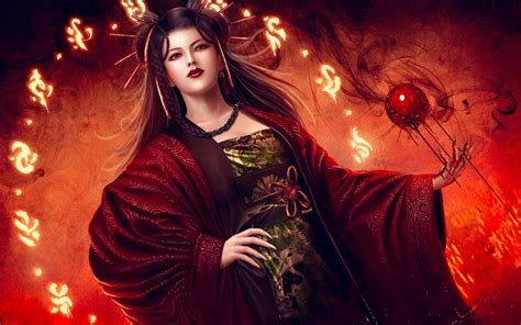 hd geisha witch wallpaper