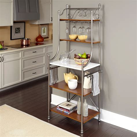 bakers rack for home styles the orleans bakers rack bakers racks at