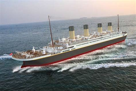 Qi Boat Vs Ship by Scale Titanic Replica Aims To Attract Visitors To