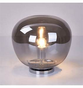 Lampe Boule à Poser : luminaire vintage verre fum achat lampe vintage echoes ~ Dailycaller-alerts.com Idées de Décoration