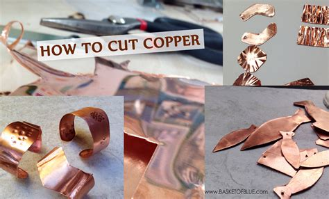 How To Cut Copper Sheet With Simple Tools  Basket Of Blue