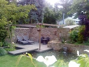 Steinmauer Mit Wasserfall : pergolen pergola garten d sseldorf nrw ~ Markanthonyermac.com Haus und Dekorationen