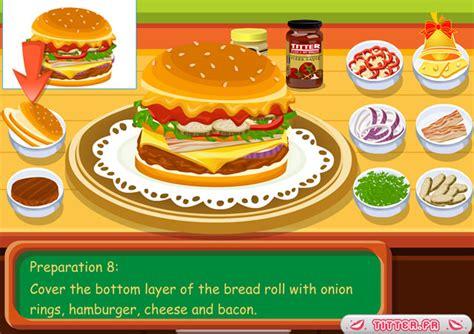 jeu de cuisine hamburger jouer à le hamburger de tessa jeux gratuits en ligne