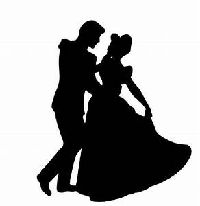 Silhouette Cinderella and Prince + more Disney silhouettes ...