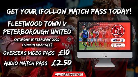 Fleetwood Town vs Peterborough United on 15 Feb 20 - Match ...