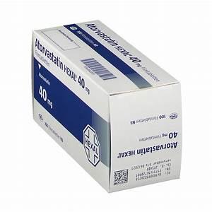 Atorvastatin Hexal U00ae 40 Mg Filmtabletten 100 St
