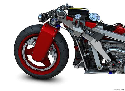 Sweet Digital Mockups Of Fantasy Ferrari Motorcycle