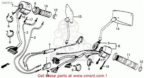 1986 Honda Vt1100 Wiring Diagram by Honda Vt700c Shadow 1985 Usa Switch Schematic Partsfiche