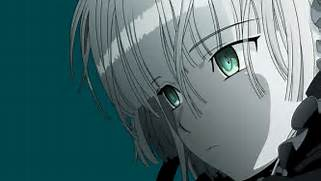- Transparent green eyes gosick white hair victorique de blois anime      Anime Boys With White Hair And Green Eyes