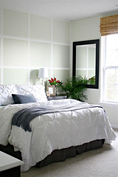 how to create a painted square wall with wood planks