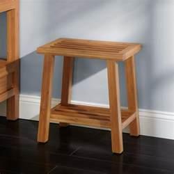 freestanding bamboo slotted bathroom stool ebay