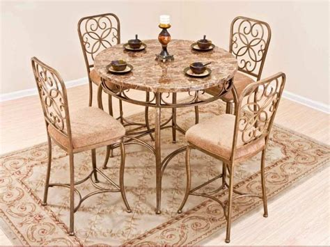 Wrought Iron Dining Room Table And Chairs Awesome Dining