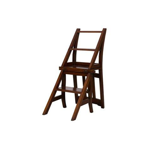 sedia libreria sedia a scala scaletta scaleo legno noce per libreria