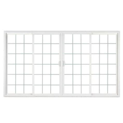 simonton patio doors home depot simonton 4 panel white contemporary vinyl sliding patio