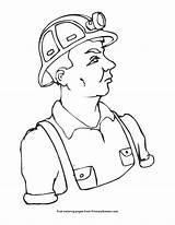 Coal Miner Coloring Printable Primarygames sketch template