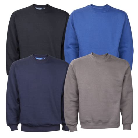 sleeve sweater mens mens plain crew neck sweatshirt jumper top pullover