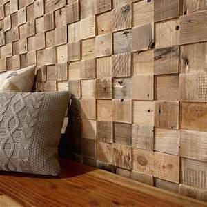 Panneau Bois Decoratif : panneau d coratif en bois mural textur cube timberwall appartement pinterest ~ Teatrodelosmanantiales.com Idées de Décoration