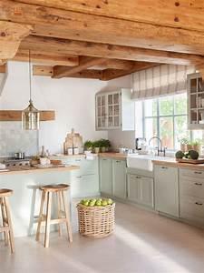 65, Cocinas, R, U00fasticas, Bonitas, Con, Muebles, Vintage, Y, Mucho