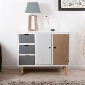 Ikea Meuble Entree : meuble d 39 entr e 2 portes 3 tiroirs zenon univers petits meubles tousmesmeubles ~ Preciouscoupons.com Idées de Décoration