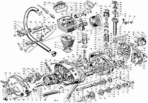 Old Motorcycle Engine Exploded Diagram   Engineporn