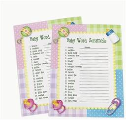 Baby Shower Games Word Scramble Answers