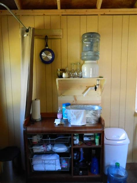 sink  running water  tiny house
