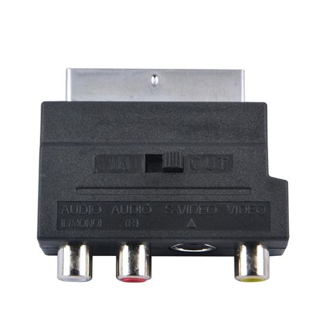 2016 selling rgb scart to composite rca s av tv audio adapter in audio cables