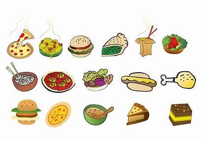 Cartoon Foods Vector Graphics