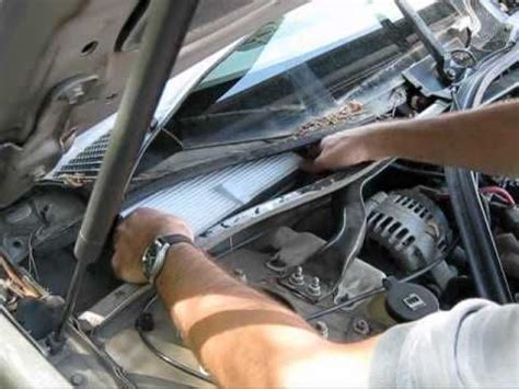 service manual   change cabin filter  buick