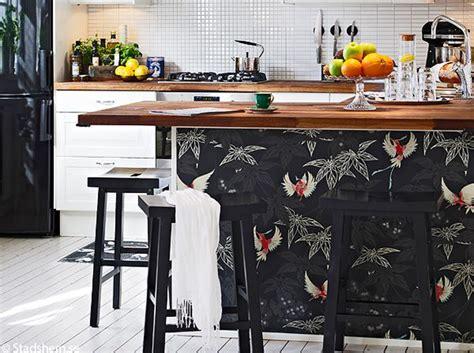 le papier peint dans une cuisine 231 a change tout elle