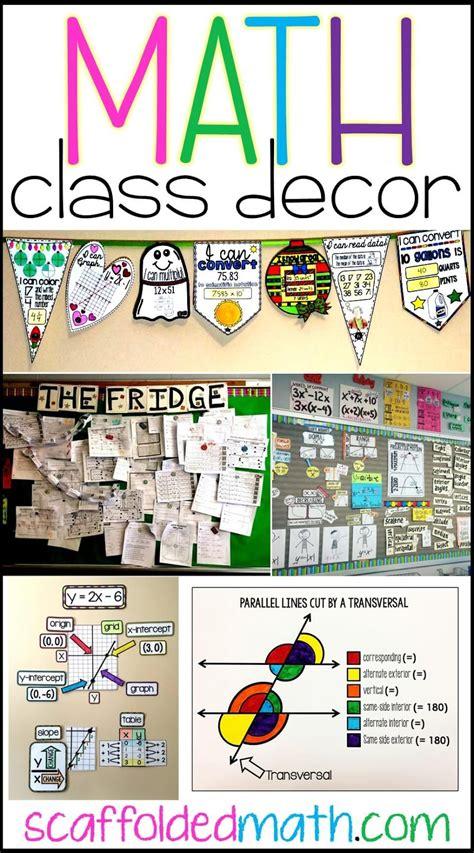 Math Decorations - scaffolded math and science math classroom decoration ideas