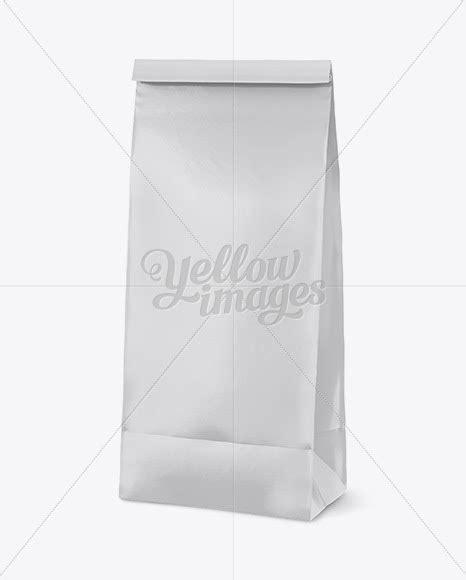 — matte plastic snack tube mockup. Download Matte Paper Snack Bag Mockup - Half Side View PSD