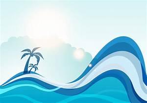 Summer sea wave vector background - Download Free Vector ...