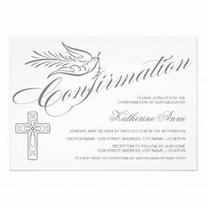 elegant calligraphy cross and dove confirmation 5x7 paper With free printable confirmation invitations template