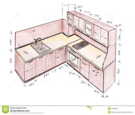 profondeur standard plan de travail cuisine modern interior design kitchen freehand drawing decobizz com