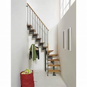 Escalier Escamotable Isolé Leroy Merlin : escalier modulaire strong marches bois structure m tal gris leroy merlin escalier ~ Melissatoandfro.com Idées de Décoration