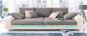 Sofa Xxl Mit Schlaffunktion : big sofa wahlweise mit rgb led beleuchtung kaufen otto ~ Indierocktalk.com Haus und Dekorationen