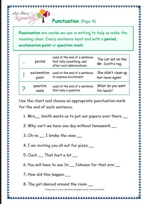 All Worksheets » Grammar And Punctuation Worksheets  Printable Worksheets Guide For Children