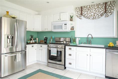 cost kitchen makeover   coastal style diy