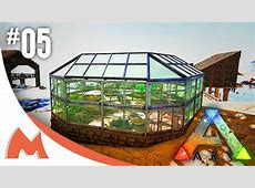 ARK Survival Evolved GREENHOUSE BUILD WITH STRUCTURES