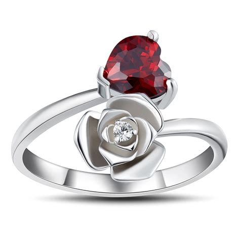 sterling silver wedding bands cut garnet 925 sterling silver promise rings for