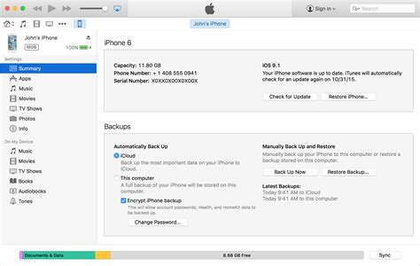 backing up iphone to itunes about encrypted backups in itunes apple support 1522