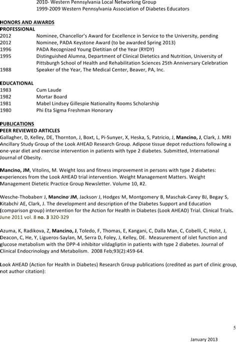 clinical nutritionist resume for free page 5