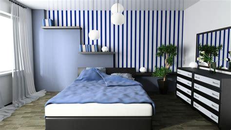 Blaue Tapeten Schlafzimmer Möbelideen