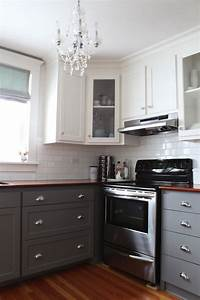 gray kitchen cabinets transitional kitchen benjamin With best brand of paint for kitchen cabinets with wall art sets of 2