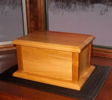 wood cremation urn box plans build  pinterest cremation urns  urn