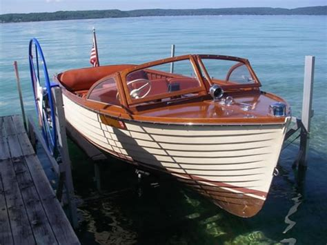 Skiff Lake Boat Launch by Chris Craft Ladyben Classic Wooden Boats For Sale